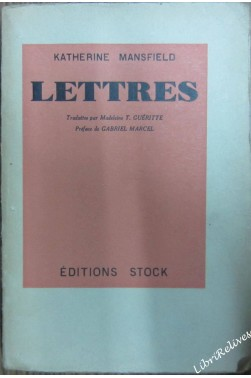 Lettres de katherine mansfield [Broché]