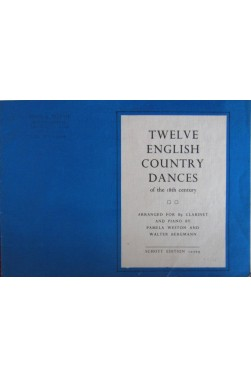 Twelve English country dances for Bb clarinet and piano [Partition]