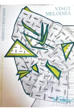 Vingt mélodies - Ernest Chausson - piano et chant [Partition]