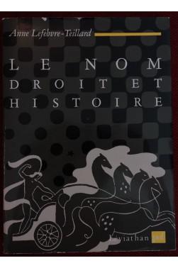 Le Nom, Droit Et Histoire