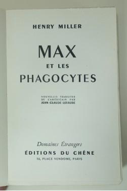 Max et les phagocytes. Edition originale numérotée sur vélin d'Artois