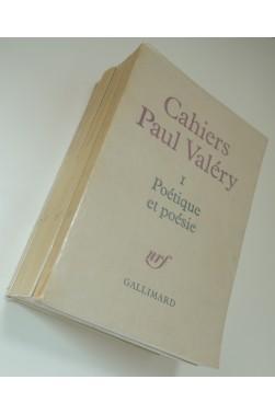 Cahiers Paul Valéry I à 4, série complète, nrf -Gallimard, 1975 - 1986
