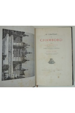[ Reliure signée GARDIEN ] Le Chateau de Chambord. Sur vergé, orné de vignettes