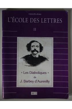 Revues L'école des lettres II, n°7 : LES DIABOLIQUES DE J. BARBEY D'AUREVILLY
