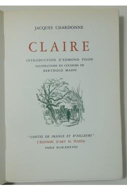 Claire. Illustrations en couleurs de Berthold Mahn