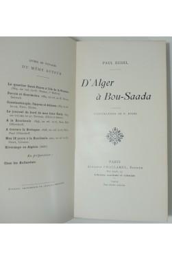 D'Alger à Bou-Saada. Illustrations de H. Eudel
