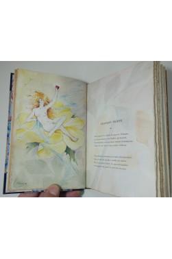 Louis Raymond. L'Automne du coeur, édition originale, 1894. Avec dédicace, aquarelles et reliure signée