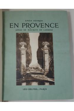 En Provence. Sépias de Maurice de Lambert. Sur vélin, numéroté, reliure pyrogravée, 1927