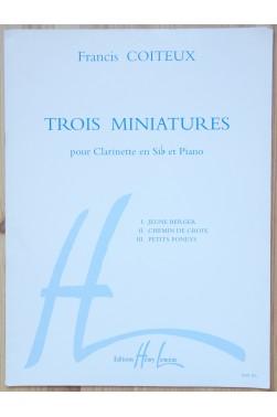 Trois Miniatures pour Clarinette en Si b et Piano
