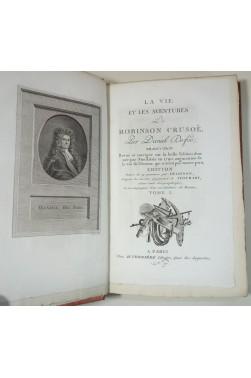 La vie et les aventures de Robinson Crusoë. 19 gravures par Delignon d'après Stothart. 3 tomes, 1800