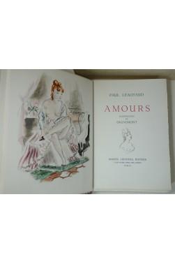 Amours. Illustrations en couleurs de Dignimont. Marcel Lubineau éditeur, 1958