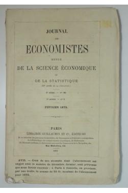 Journal des Economistes, 20 numéros de la 3ème série, Guillaumin 1873-1875