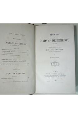 Mémoires de Madame de Rémusat. Tomes 1 et 2 /3, Calmann Lévy 1880