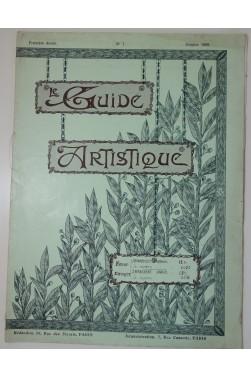 Le Guide Artistique. Revue d'Art Décoratif et d'Enseignement. N° 1 à 4, 1909 - 1910