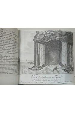 Voyage en Angleterre, en Ecosse et aux îles Hébrides. 7 planches dont grotte de Fingal. 2/2 1797