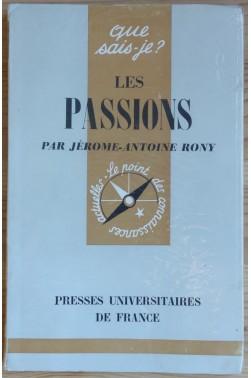 Les passions - Que sais-je? N°943 - Puf -