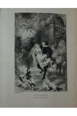 Le diable boiteux. Eaux-forte de Lalauze 2/2 Jouaust, Librairie des bibliophiles 1880