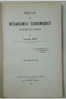 Précis des mécanismes économiques élémentaires. Sirey, 1947