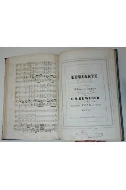 C. M. de WEBER - Oberon, opéra en 3 actes - Euriante, 3 actes - Partition piano et chant