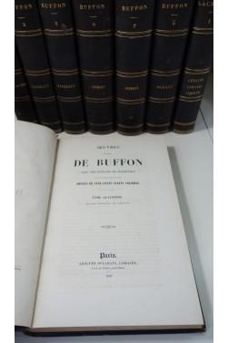 Oeuvres Complètes de Buffon : Histoire naturelle des Minéraux, Animaux, Oiseaux. Planches coloriées, 7 vol. + 1 Lacépède