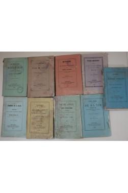 Lot de 10 livres Société des Livres Religieux, Toulouse - 1854 à 1866