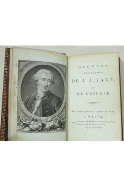 Oeuvres poissardes de J. J. Vadé et de l'Écluse. Didot, 1796. Reliure maroquin