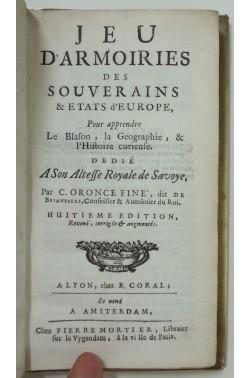 Jeu d'armoiries des souverains et Etats d'Europe, pour apprendre le blason, la géographie et l'histoire curieuse