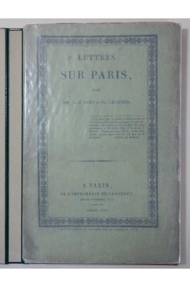 Lettres sur Paris, par G.-T. Doin et Éd. Charton. Crapelet 1830 - Reliure