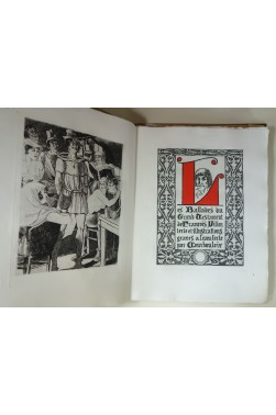 Les Ballades du Grand Testament de François Villon. Texte et illustrations gravés à l'eau-forte par Courbouleix.