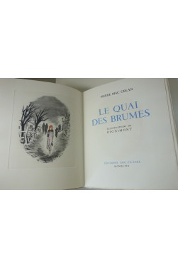 Pierre Mac Orlan - Le Quai des Brumes. Illustrations couleurs de Dignimont.‎
