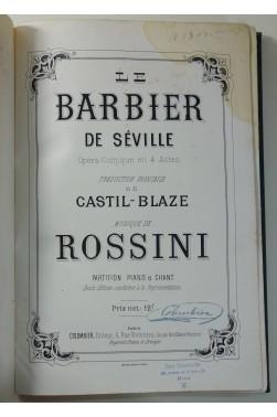 Le Barbier de Séville - Partion Piano et Chant - 1è éd. Colombier - Seule Ed. conforme à la représentation