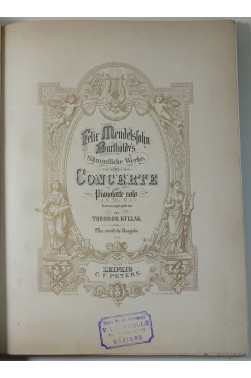 Œuvres complètes de Felix Mendelssohn Bartholdy Tomes 4 et 5 - Concerte - Compositionen