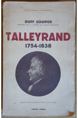 Talleyrand 1754-1838 - Duff Cooper - 1937 - Payot -