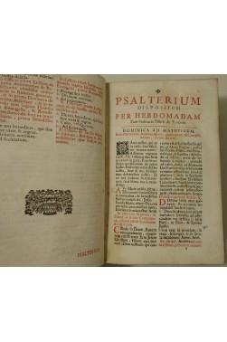 Breviarii - Psalterium - Commune - Homiliae ... Joannis Chardon 1682 - Pars aestivalis