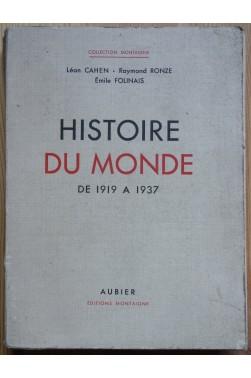 Histoire du Monde de 1919 à 1937