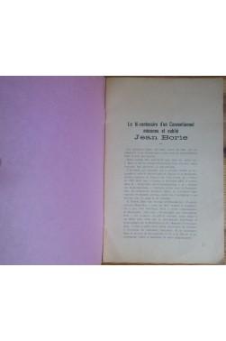 Le bi-centenaire d'un Conventionnel méconnu et oublié Jean Borie - 1756-1956 - E. Audubert -