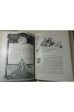 REVUE PARISIENNE - Photos, illustrations Art Nouveau / Chocolats Poulain - RARE 580p