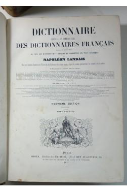 Dictionnaire général et grammatical des dictionnaires français 2/2 Napoléon Landais 1847 Didier