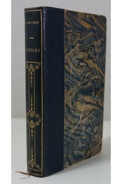 Alfred de Vigny - Poésies. 1è ed. Lemerre 1883 demi-maroquin Frontispice