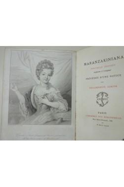 Maranzakiniana. Nouvelle édition conforme à l'original, précédée d'une notice par Philomneste Junior