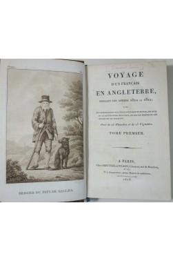 Voyage d'un Français en Angleterre pendant les années 1810 et 1811 - édition originales avec 15 planches