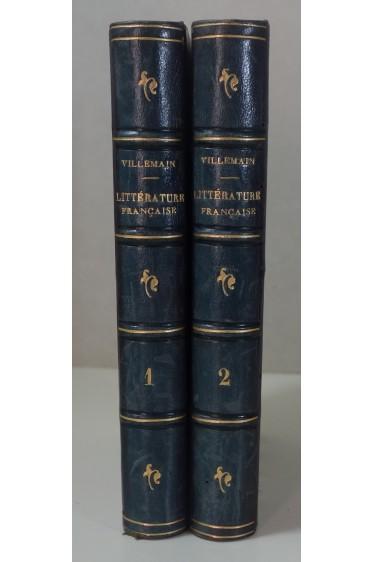 VILLEMAIN Tableau de la Littérature du Moyen-Age 2/2 - Ed. Didier, 1856, belles reliures
