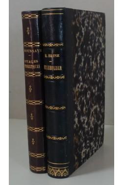HEINE - Reisebilder. Edition originale Lecou 1853 + HOUSSAYE Voyages humoristiques RARE
