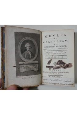Oeuvres de COLARDEAU - 3 tomes, complet. Edition de Cazin, 1793