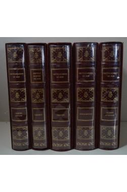 Les Gentilshommes de Mer (5 Tomes /7) : Dumont d'Urville - Bougainville - Jacques Cartier - Charcot - Tabarly Reliures, Gelly