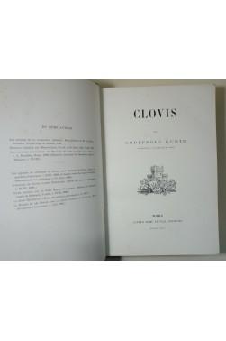 CLOVIS par Godefroid KURTH. Belle reliure, héliogravures, 1896