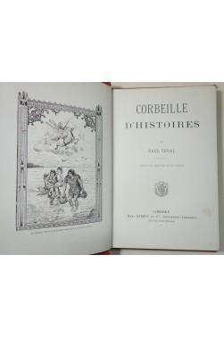 Corbeilles d'histoires par Paul FEVAL - Gravures, Cartonnage éditeur, Barbou