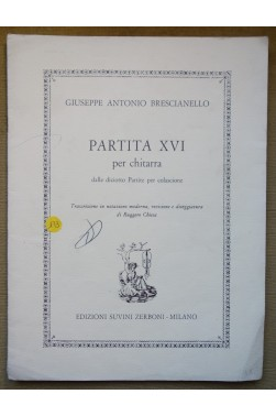 Partita XVI per chitarra, dalle diciotto Partite per colascione - G. A. Brescianello - Partition Guitare -