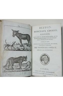 BUFFON - Morceaux choisis - planches animaux, Ed. Dabo-Butschert, 1828, RARE