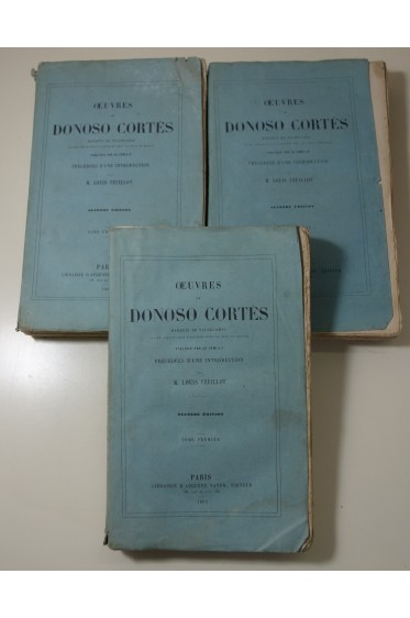 Oeuvres de DONOSO CORTES, Marquis de VALDEGAMAS - 3/3 - 2ème édition, Vaton, 1862